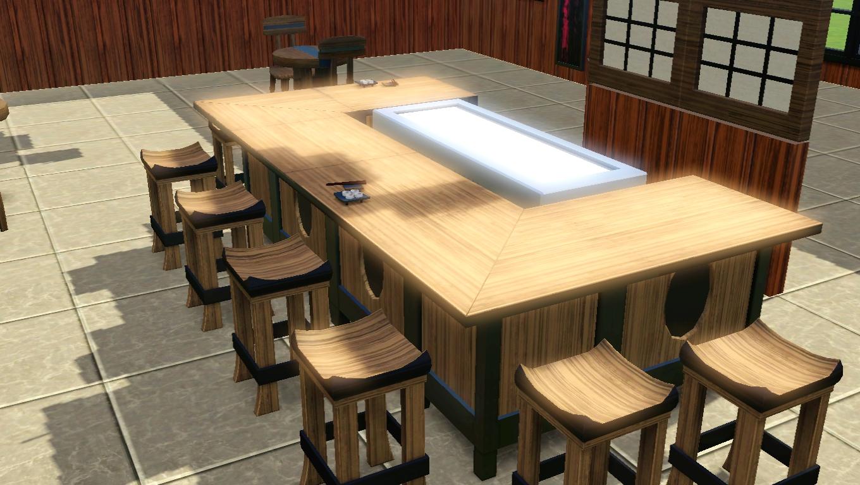 The Sims 3 Store Itadakimasu Dining Set U0026 Chun Co Teppanyaki Grill